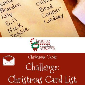 Christmas Card List