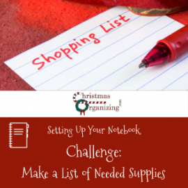 Make a list of needed materials