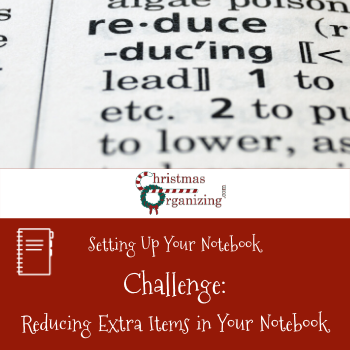Reduce Extra Items In Your Notebook