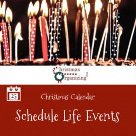 Schedule Life Events