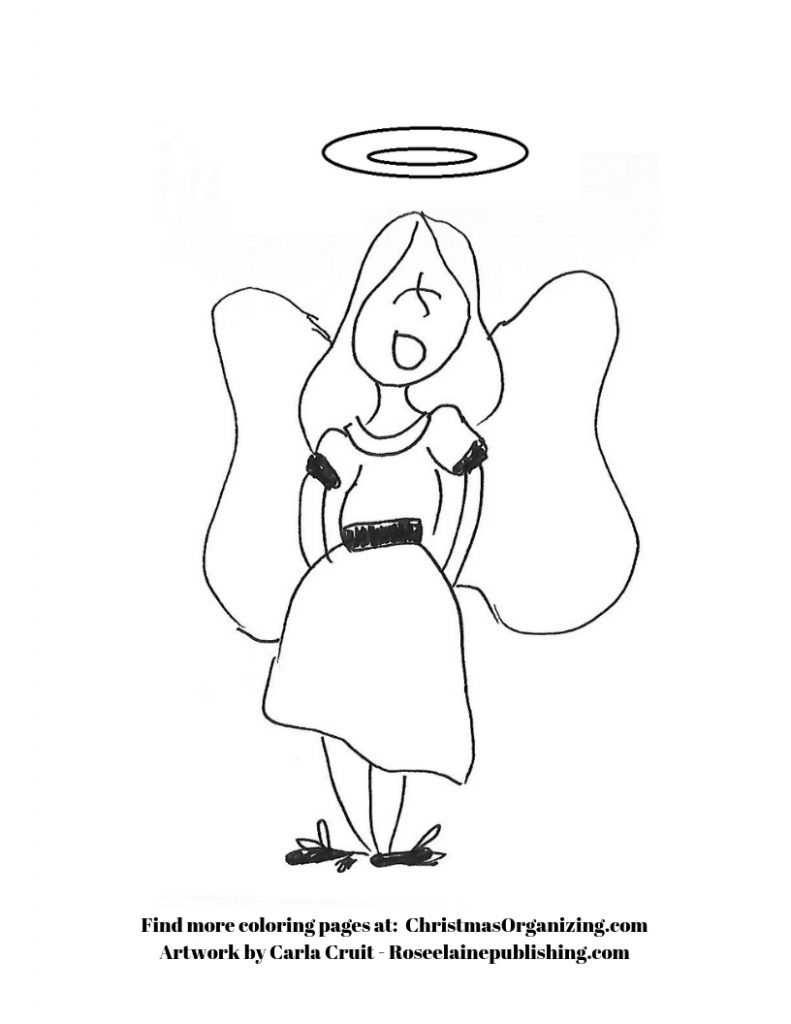 Coloring Page - angel