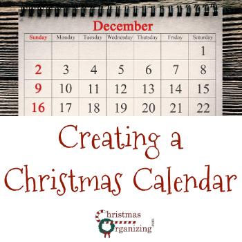 Creating a Christmas Calendar