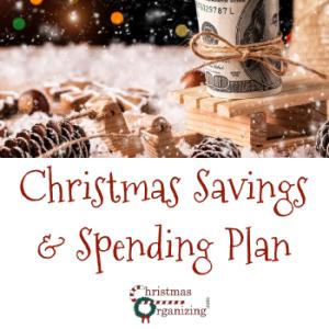 Christmas Savings and Spending Plan