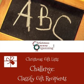 Classify Gift Recipients