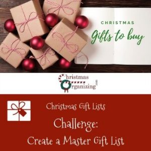 Create A Master Gift List