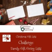 Family Gift Giving Lists