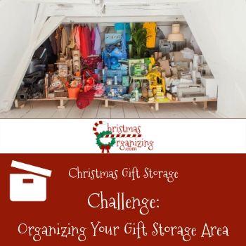 Organizing Your Gift Storage Area