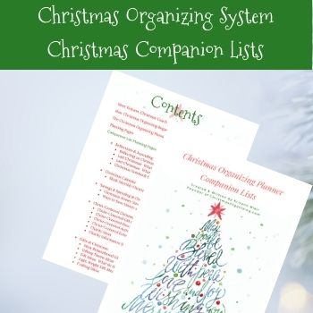 Christmas Organizing System